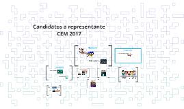 Candidatos a representante CEM 2017