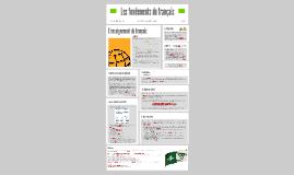 Les fondements du français