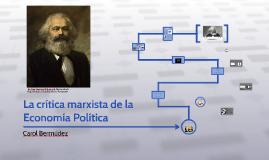 La crítica marxista de la Economía Política