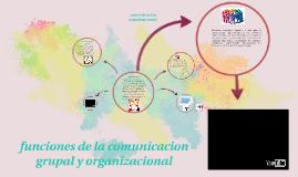 Copy of funciones de la comunicacion grupal y organizacional