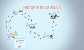 HISTORIA DE LA FISICA