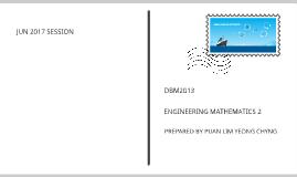 DBM2013 ENGINEERING MATHEMATICS 2