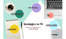 Copia de Tecnologia e as TIC