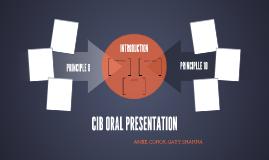 CIB ORAL PRESENTATION