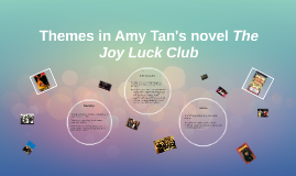 themes in the joy luck club essay Suggested essay topics and study questions for amy tan's the joy luck club perfect for students who have to write the joy luck club essays sparknotes themes.