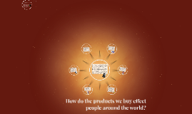 How do the products we buy effect people around the world?
