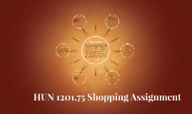 HUN 1201 Shopping Assignment