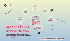 Matemática nas origens