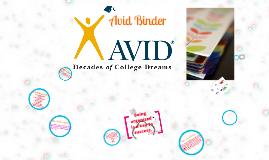 Copy of avid Binder
