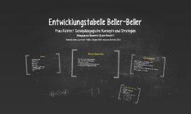 Entwicklungstabelle Beller-Beller