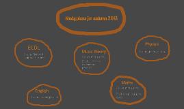 Study plans for the autumn term 2013
