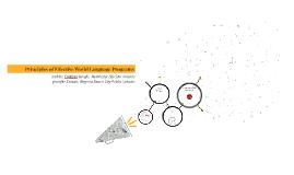 NCSSFL Principles of Effective World Language Programs