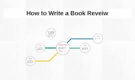 How to Write a Book Reveiw