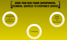 Using Your New-found Superpowers: Tech Services