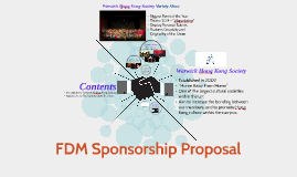 FDM Sponsorship Proposal