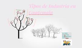 Copy of Tipos de Industria en Guatemala