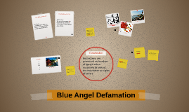 Blue Angel Defamation
