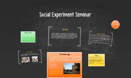 Social Experiment Seminar