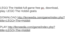 LEGO The Hobbit full game free pc, download, play. LEGO The