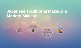 Japanese Traditional Makeup & Modern Makeup