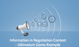 Information in Negotiation Context