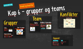 Kap 6 - grupper, teams og teamledelse