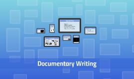 Writing Non-fiction Film