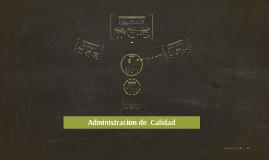 Admon. de la Calidad (Spanish)