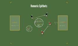 Homeric Epithets