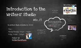 Faculty Introduction to the Writers' Studio