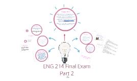 ENG 214 Final Exam, Part 2