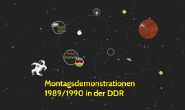 Montagsdemonstrationen 1989/1990 in der DDR