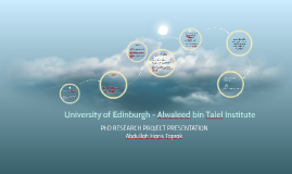 University of Edinburgh - Alwaleed bin Talal Institute
