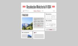 Resolución Ministerial N°064