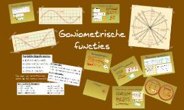 VWO  wiskunde B: Werken met goniometrische functies