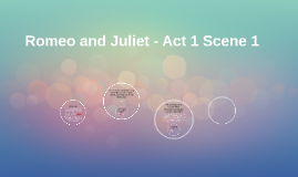 Copy of Romeo and Juliet - Act 1 Scene 1