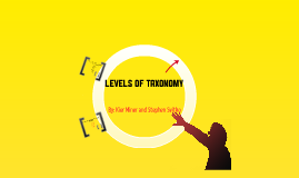 Copy of Levels of Taxonomy