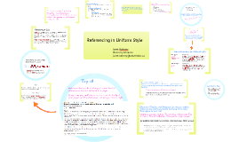 Referencing in Uniform Style