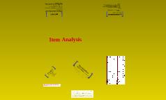 Methods in Item Analysis