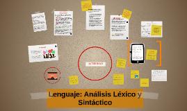 Lenguage: Análisis Léxico y Sintáctico
