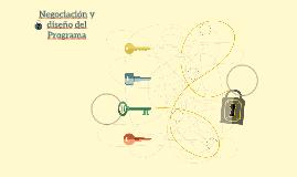 Negociación y diseño del Programa