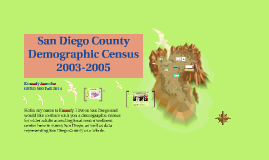 San Diego County Demographic Census 2008 - 2012