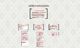 Análises multivariadas