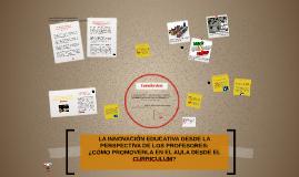 LA INNOVACIÓN EDUCATIVA DESDE LA PERSPECTIVA DE LOS PROFESOR