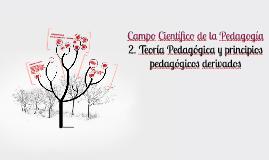 Copy of Teoría Pedagogica y principios pedagogicos derivados
