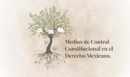 Copy of Medios de Control Constitucional en el Derecho Mexicano.