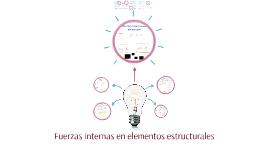 Fuerzas internas en elementos estructurales