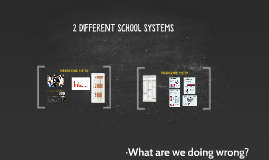 2 DIFFERENT SCHOOL SYSTEMS