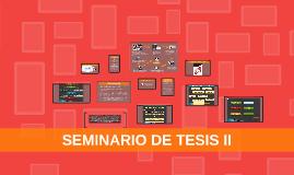 SEMINARIO DE TESIS II
