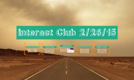interact club 2/26/15